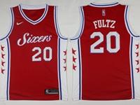 2017-18 Mens Nba Philadelphia 76ers #20 Markelle Fultz Red Swingman Nike Jersey