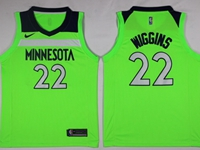 New Mens Nba Minnesota Timberwolves #22 Andrew Wiggins Green Swingman Nike Jersey