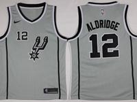 Mens Nba San Antonio Spurs #12 Lamarcus Aldridge Gray Nike Jersey