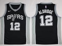 New Mens Nba San Antonio Spurs #12 Lamarcus Aldridge Black Nike Jersey