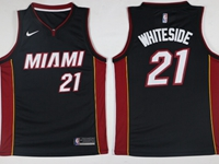 New Mens Nba Miami Heat #21 Hassan Whiteside Black Nike Jersey