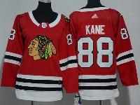Women Youth Nhl Chicago Blackhawks #88 Patrick Kane Red Adidas Jersey