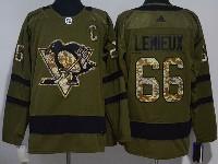 Mens Adidas Nhl Pittsburgh Penguins #66 Mario Lemieux Green Hockey Jersey