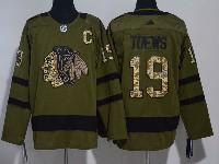Mens Nhl Chicago Blackhawks #19 Jonathan Toews Green Hockey Aidas Jersey