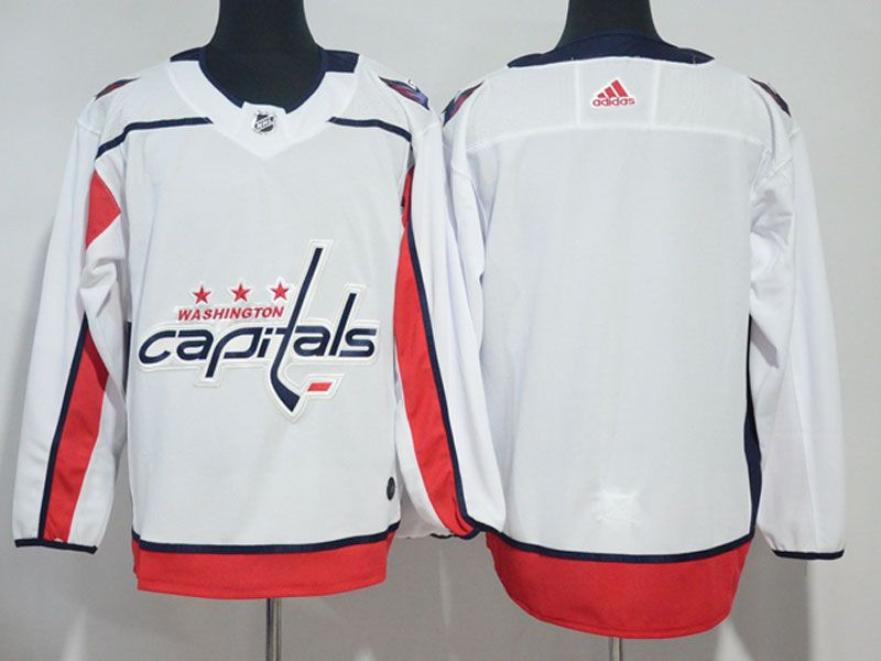 Mens Nhl Washington Capitals Blank White Adidas Jersey