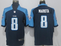 Mens Tennessee Titans #8 Marcus Mariota Dark Blue Vapor Untouchable Limited Player Jersey