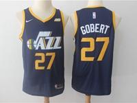 Mens Nba Utah Jazz #27 Rudy Gobert Dark Blue Nike Swingman Jersey