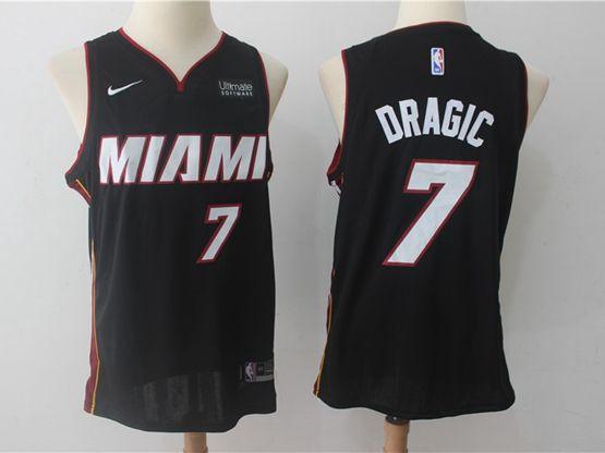New Mens Nba Miami Heat #7 Goran Dragic Black Nike Player Jersey
