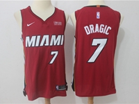New Mens Nba Miami Heat #7 Goran Dragic Red Nike Player Jersey