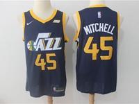 Mens Nba Utah Jazz #45 Donovan Mitchell Blue Nike Swingman Jersey