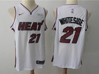 New Mens Nba Miami Heat #21 Hassan Whiteside White Nike Player Jersey