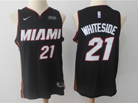 New Mens Nba Miami Heat #21 Hassan Whiteside Black Nike Player Jersey