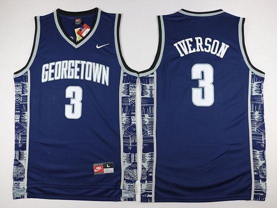 New Mens Nba Philadelphia 76ers #3 Allen Iverson Dark Blue Nike Jersey