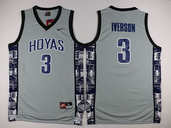 New Mens Nba Philadelphia 76ers #3 Allen Iverson Gray Nike Jersey