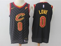 Mens Nba Cleveland Cavaliers #0 Kevin Love Black Stripe Nike Jersey