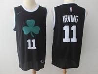 Mens Nba Boston Celtics #11 Jayson Tatum Black Flower Logo Nike Jersey