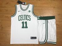 New Mens Nba Boston Celtics #11 Jayson Tatum White Nike Suit Jersey