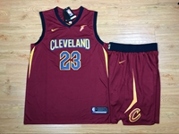 New Mens Nba Cleveland Cavaliers #23 Lebron James Red Nike Suit Jersey