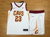 New Mens Nba Cleveland Cavaliers #23 Lebron James White Nike Suit Jersey