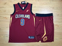 New Mens Nba Cleveland Cavaliers #9 Dwyane Wade Red Nike Suit Jersey