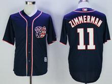 Womens Majestic Washington Nationals #11 Ryan Zimmerman Blue Cool Base Jersey