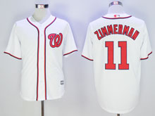 Mens Majestic Washington Nationals #11 Ryan Zimmerman White Jerse