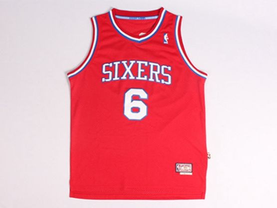 Mens Nba Philadelphia 76ers #6 Dr.j Red Jersey