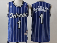 New Mens Nba Orlando Magic #1 Hardaway Blue Stripe Jersey