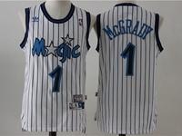 New Mens Nba Orlando Magic #1 Hardaway White Stripe Jersey