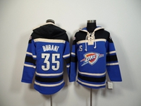 Mens Nba Oklahoma City Thunder #35 Durant Black Hoodie Jersey