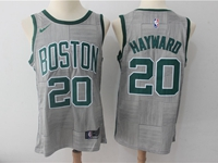 Mens Nba Boston Celtics #20 Gordon Hayward Gray Swingman City Nike Jersey