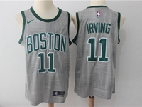 Mens Nba Boston Celtics #11 Jayson Tatum Gray Swingman City Nike Jersey