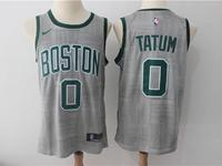 Mens Nba Boston Celtics #0 Jayson Tatum Gray Swingman City Nike Jersey