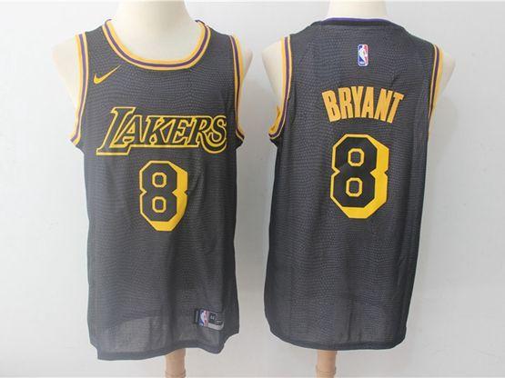 Mens Nba Los Angeles Lakers #8 Bryant Black Swingman City Nike Jersey
