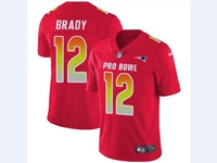 Mens Nfl New England Patriots #12 Tom Brady Red 2018 Pro Bowl Vapor Untouchable Jersey