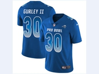 Mens Nfl Los Angeles Rams #30 Todd Gurley Ii Blue 2018 Pro Bowl Vapor Untouchable Jersey