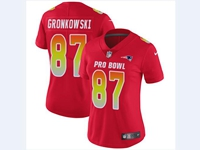 Women Nfl New England Patriots #87 Rob Gronkowski Red 2018 Pro Bowl Vapor Untouchable Jersey