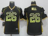 Women Nfl Pittsburgh Steelers #26 Le'veon Bell Black Drift Fashion Elite Nike Jersey