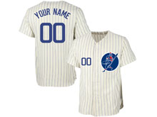New Mens Women Youth Majestic Chicago Cubs White Stripe ( Custom Made ) Cool Base Jersey