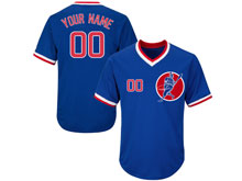 New Mens Women Youth Mlb Chicago Cubs Blue ( Custom Made ) Pullover Cool Base Jersey