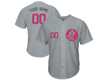 New Women Majestic Mlb Chicago Cubs Grey ( Custom Made ) Cool Base Jersey