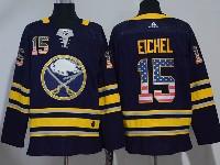 Mens Nhl Buffalo Sabres #15 Jack Eichel Usa Flag Fashion Dark Blue Adidas Jersey