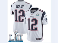 Mens Women Youth New England Patriots White 2018 Super Bowl Lii Bound Vapor Untouchable Limited Jersey
