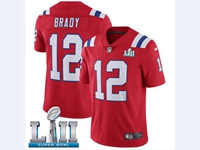 Mens Women Youth New England Patriots Red 2018 Super Bowl Lii Bound Vapor Untouchable Limited Jersey