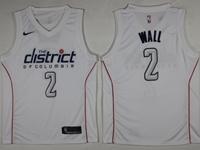 Mens Nba Washington Wizards #2 John Wall White Nike City Jersey