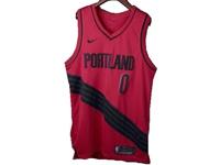 Mens Nba Portland Trail Blazers #0 Damian Lillard Red Nike Jersey