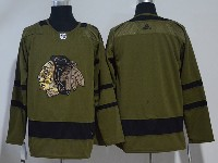 Mens Nhl Chicago Blackhawks Green Hockey Adidas Jersey(more Player)
