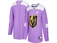 Mens Women Youth Nhl Vegas Golden Knights (custom Made) Purple Fights Cancer Adidas Practice Jersey