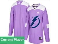 Mens Women Youth Nhl Tampa Bay Lightning Purple Fights Cancer Adidas Practice Jersey
