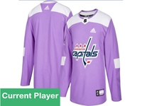 Mens Women Youth Nhl Washington Capitals Purple Fights Cancer Adidas Practice Jersey
